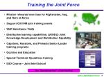 training the joint force