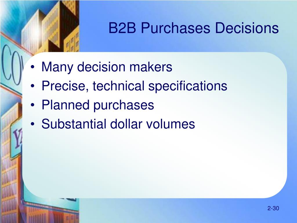 B2B Purchases Decisions