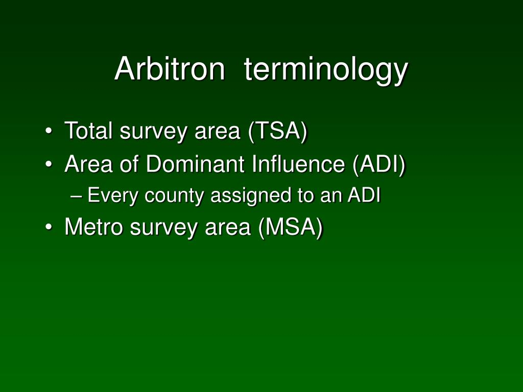 Arbitron  terminology