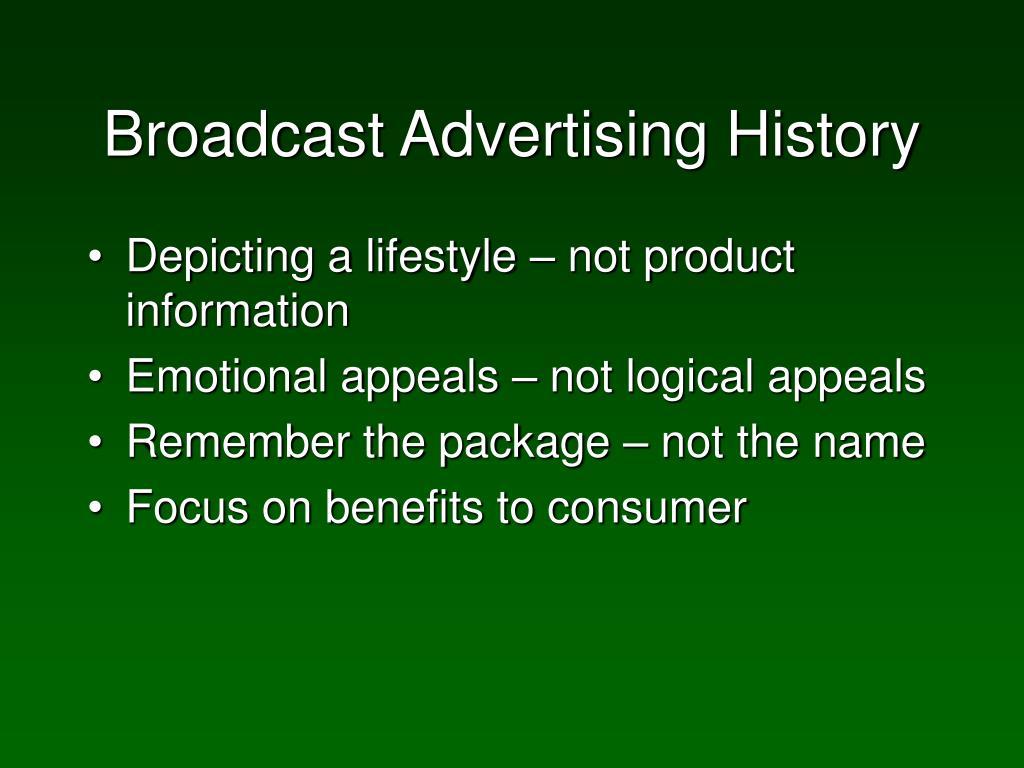 Broadcast Advertising History