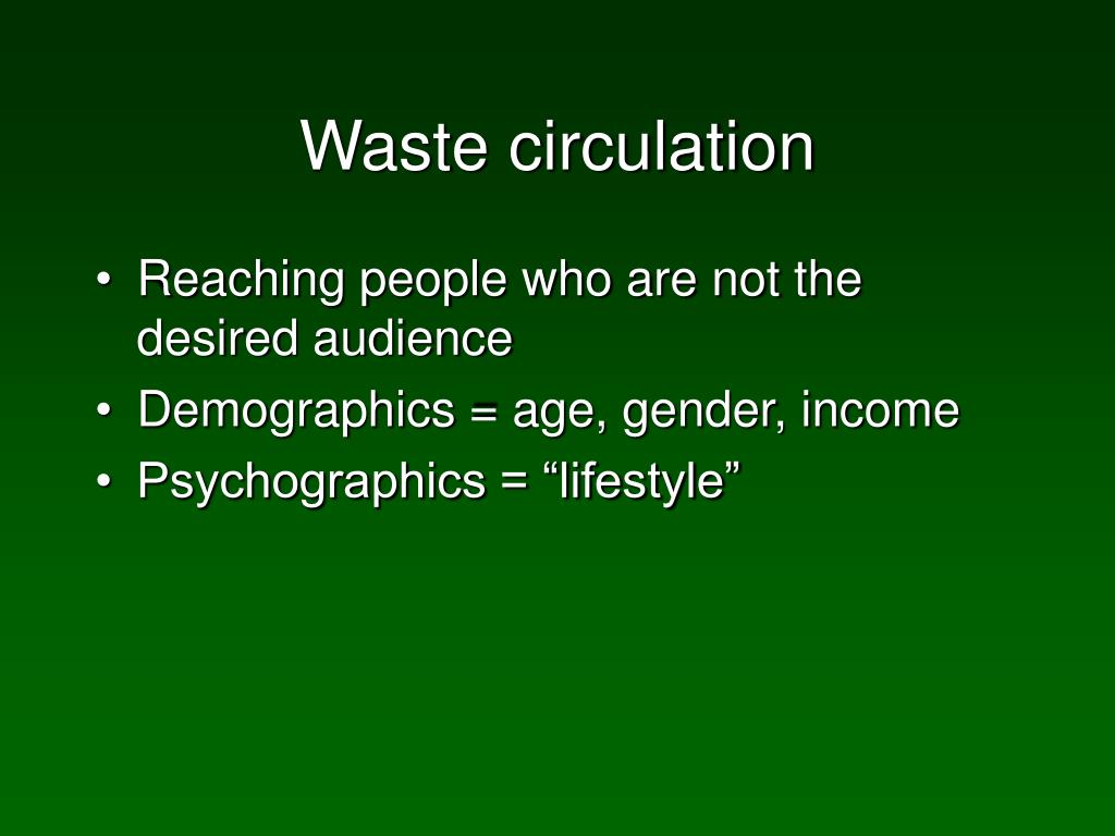 Waste circulation