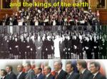 and the kings of the earth