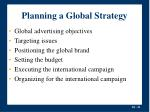 planning a global strategy