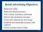 retail advertising objectives