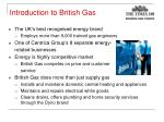 introduction to british gas