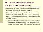 the interrelationships between efficiency and effectiveness9