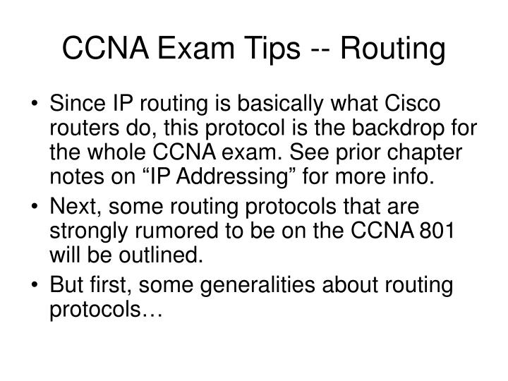 CCNA Exam Tips -- Routing