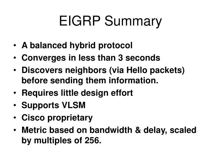 EIGRP Summary