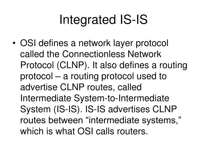 Integrated IS-IS
