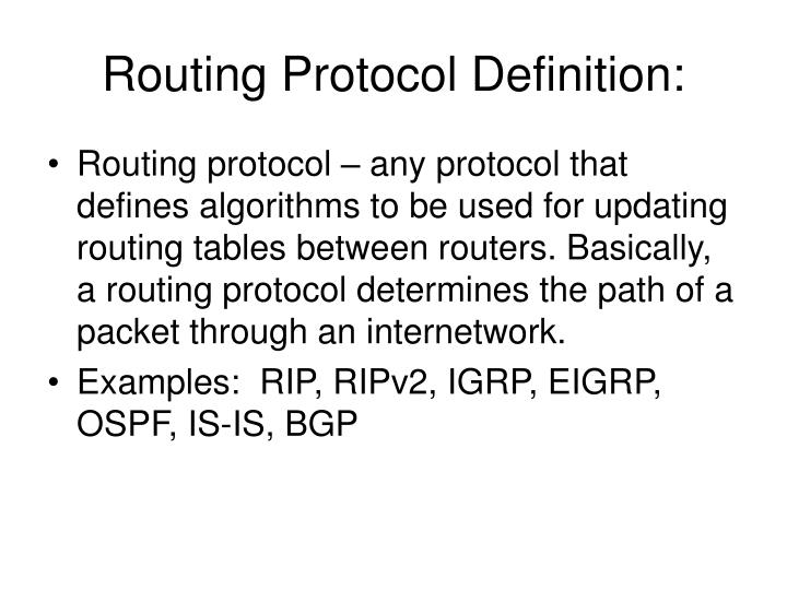 Routing protocol definition