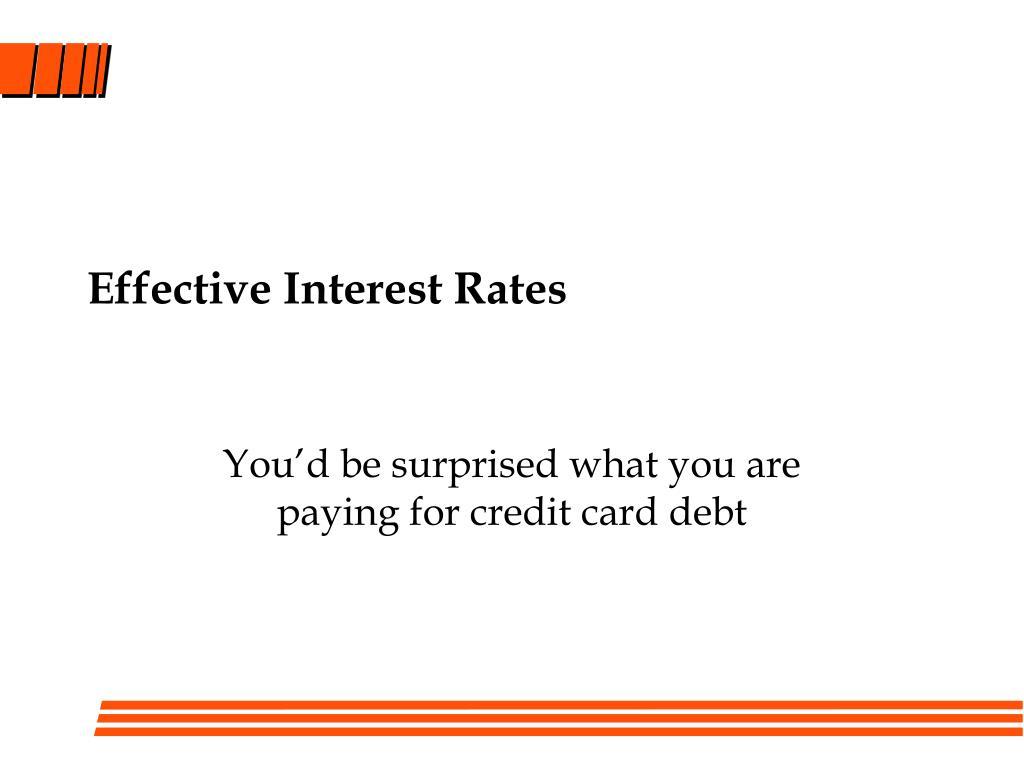 effective interest rates l.