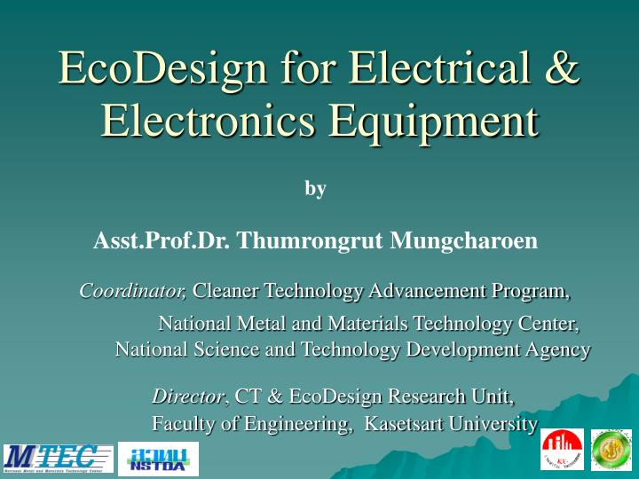 ecodesign for electrical electronics equipment n.