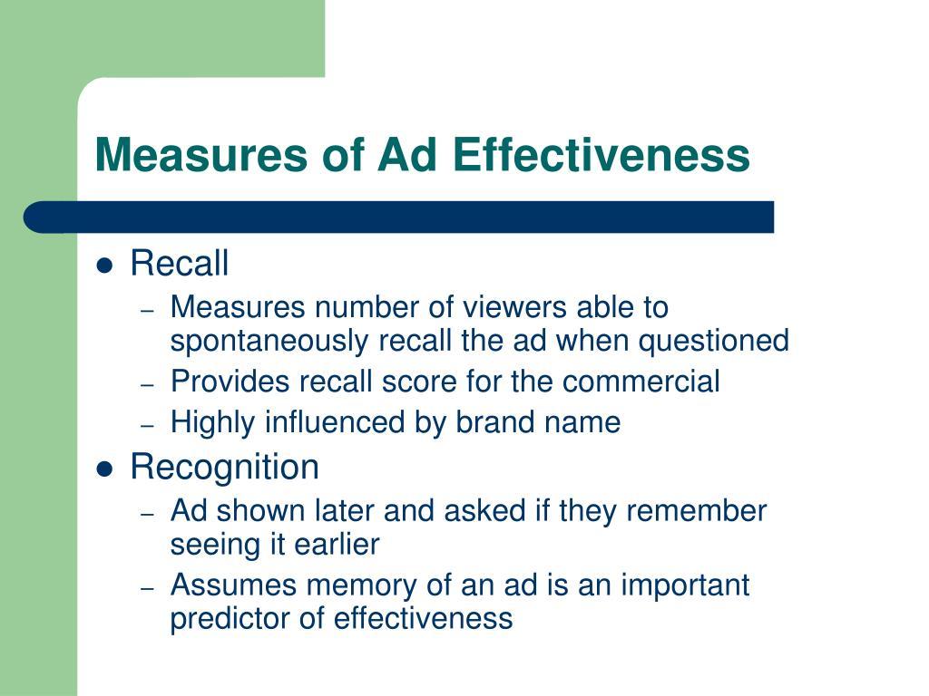 Measures of Ad Effectiveness