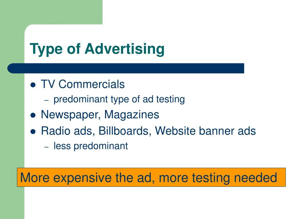 Type of Advertising