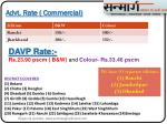 advt rate commercial