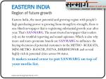 eastern india region of future growth