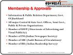 membership approvals