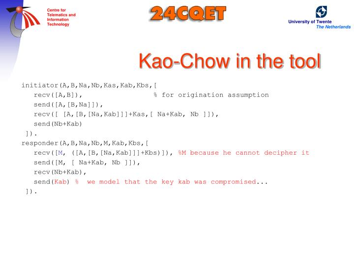 Kao-Chow in the tool