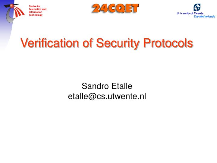 verification of security protocols n.