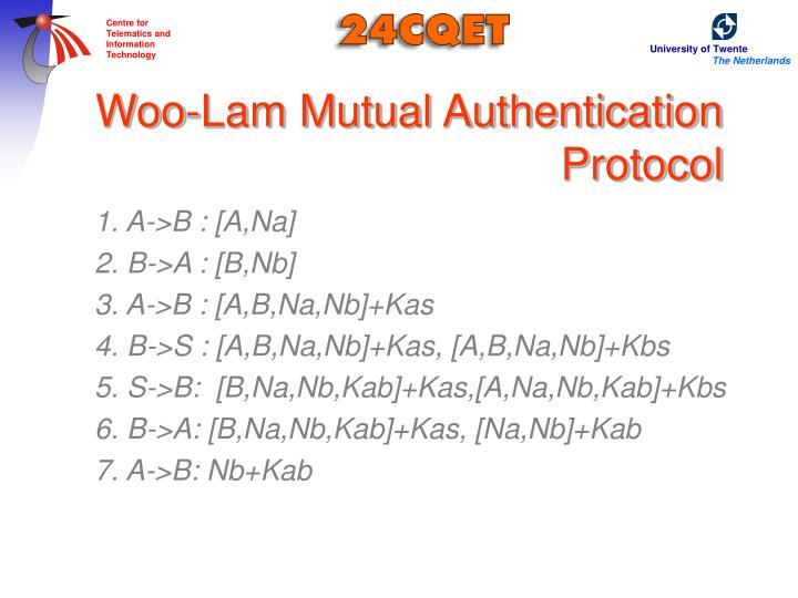 Woo-Lam Mutual Authentication Protocol
