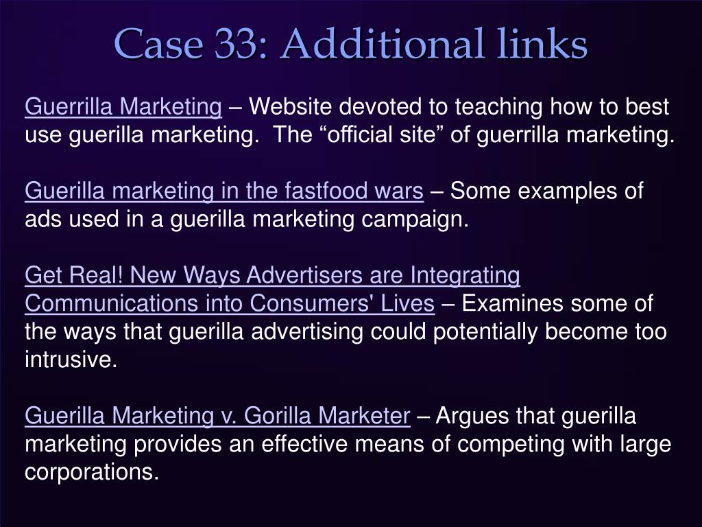 Case 33: Additional links