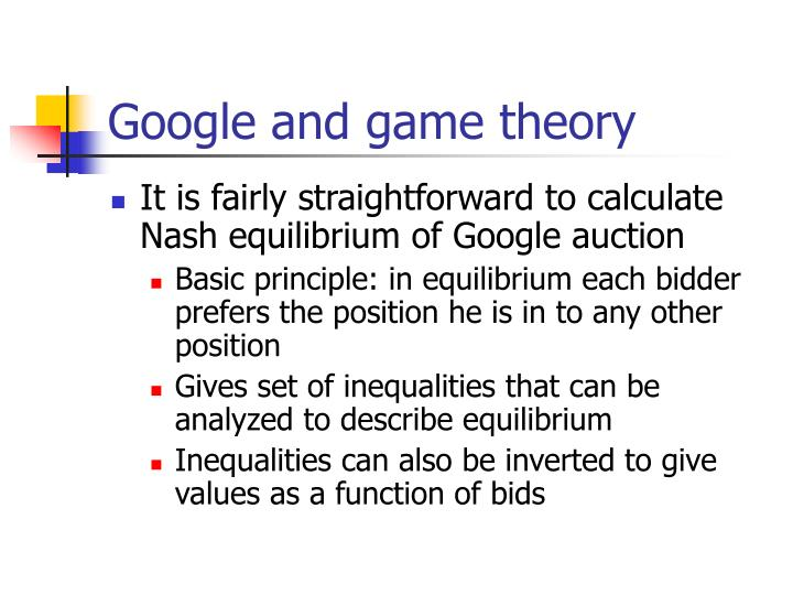 Google and game theory