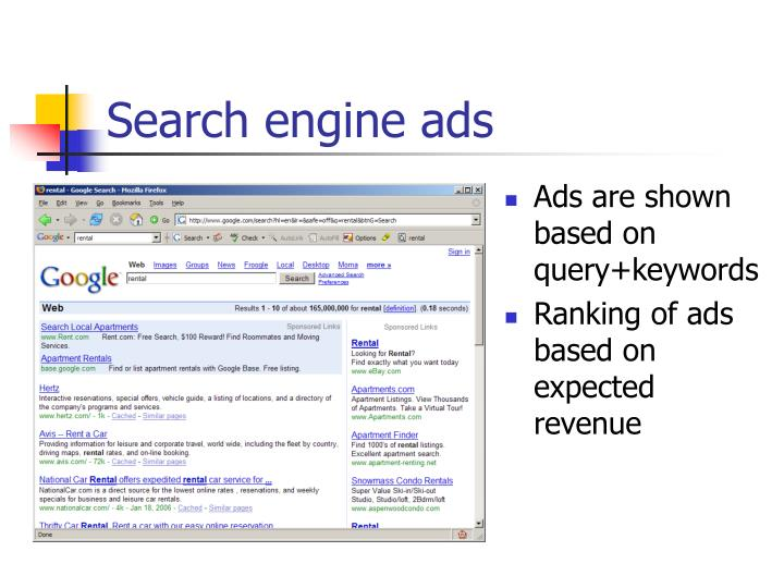 Search engine ads