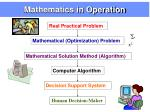 mathematics in operation