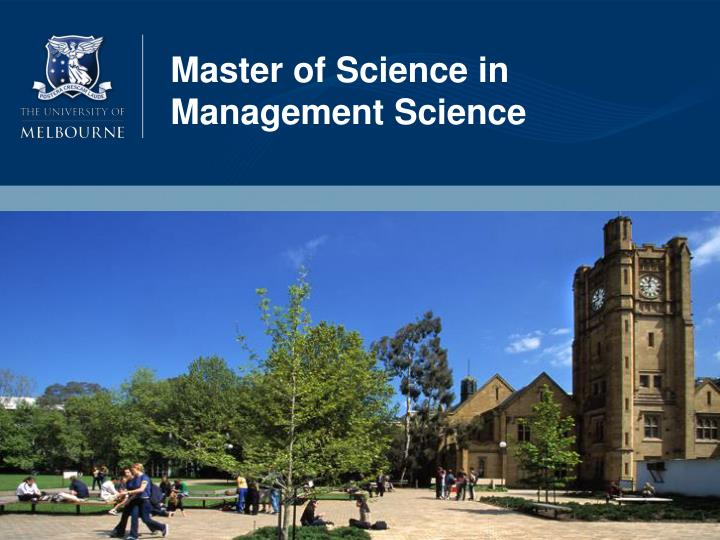 Master of Science in Management Science