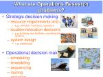 what are operations research problems