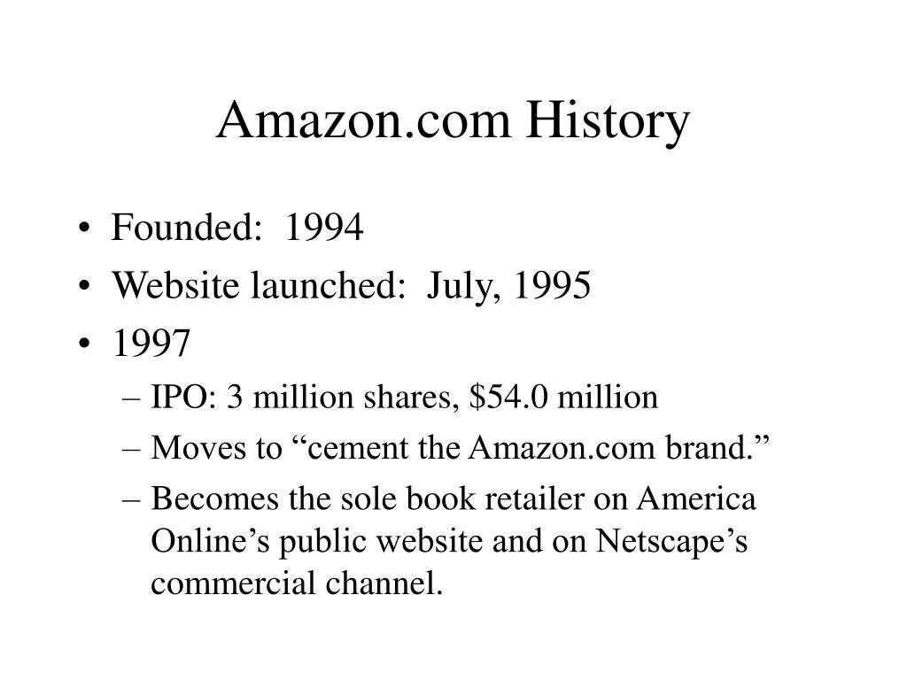 Amazon.com History