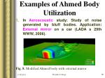examples of ahmed body utilization