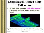 examples of ahmed body utilization18