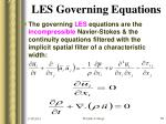 les governing equations