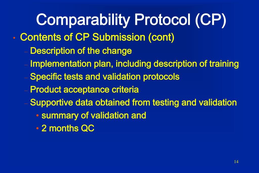 Comparability Protocol (CP)