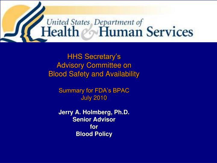 HHS Secretary's