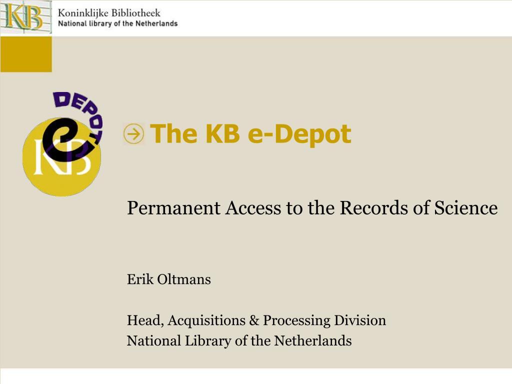 the kb e depot l.