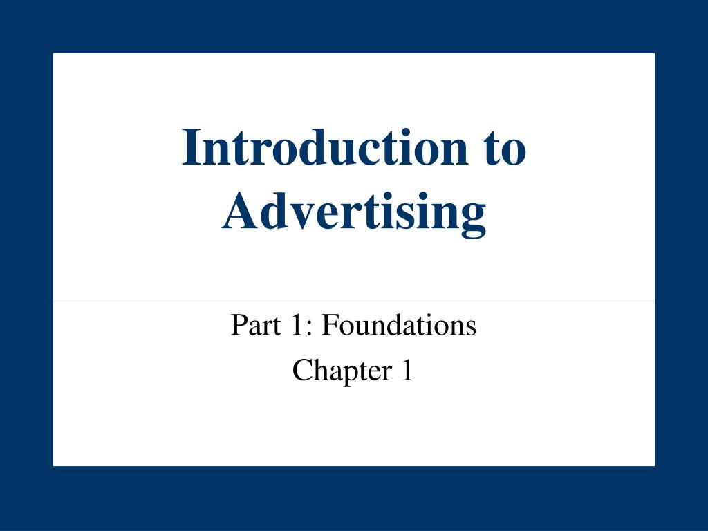 introduction to advertising l.