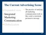 the current advertising scene24