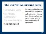 the current advertising scene25