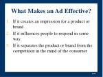 what makes an ad effective