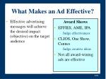 what makes an ad effective21