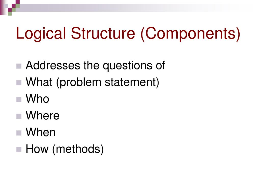 Logical Structure (Components)