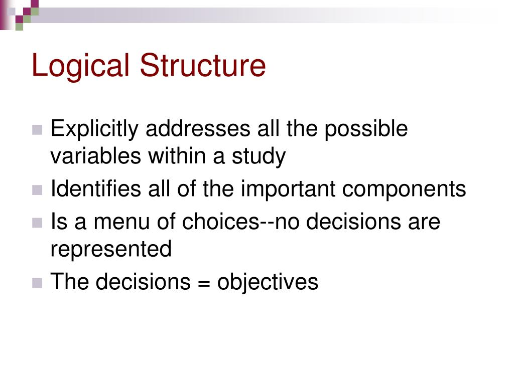 Logical Structure