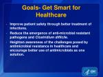 goals get smart for healthcare