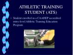 athletic training student ats