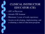 clinical instructor educator cie