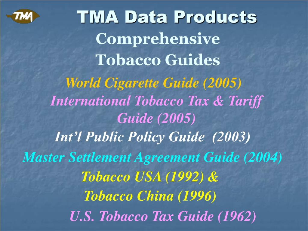 TMA Data Products