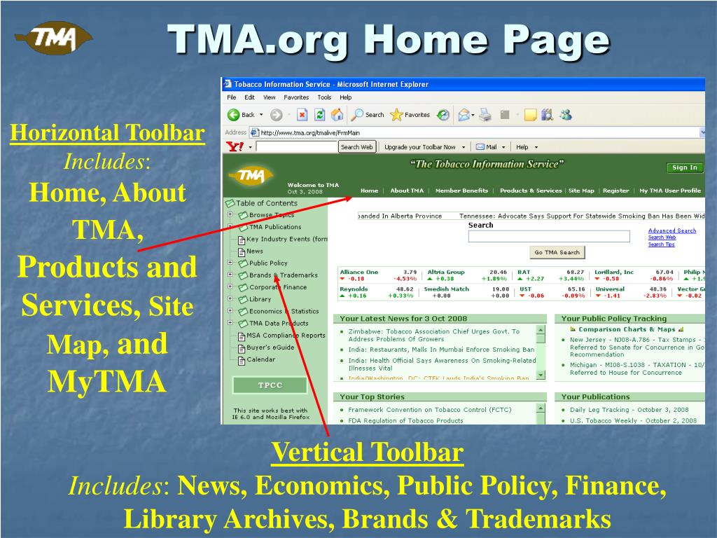 TMA.org Home Page