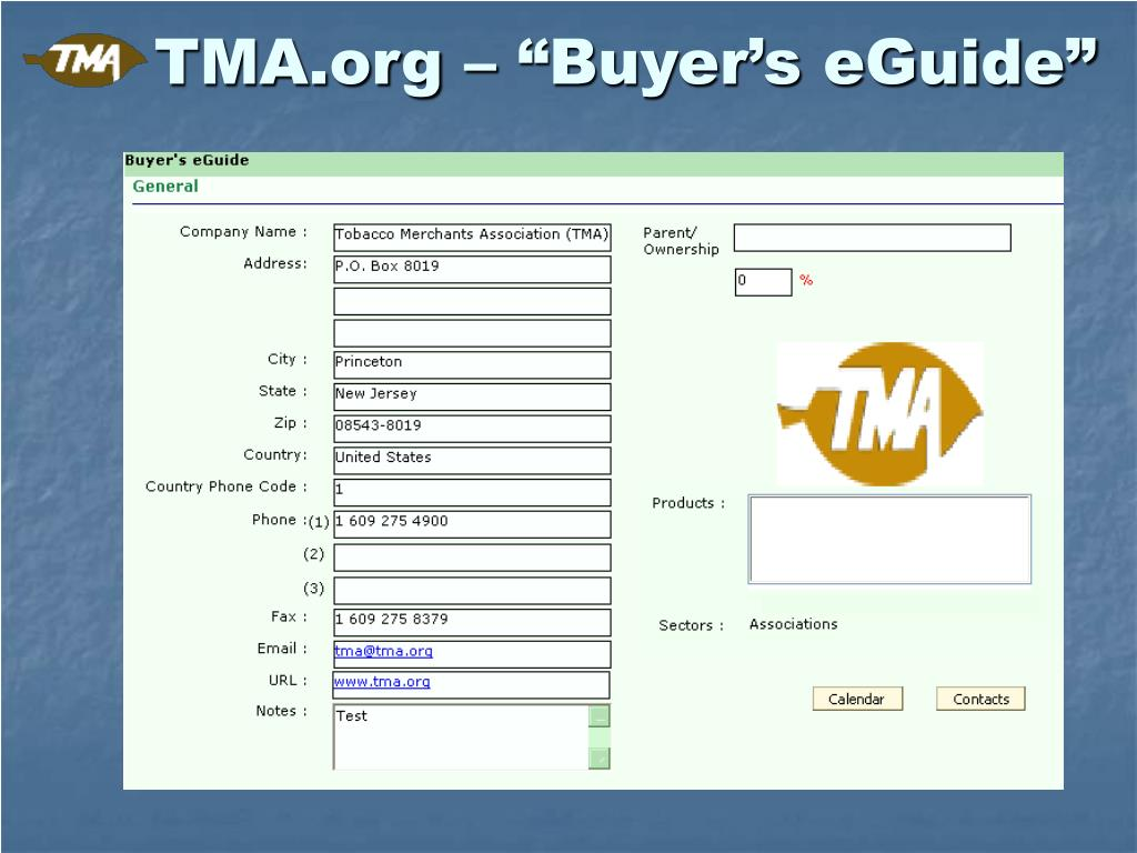 "TMA.org – ""Buyer's eGuide"""